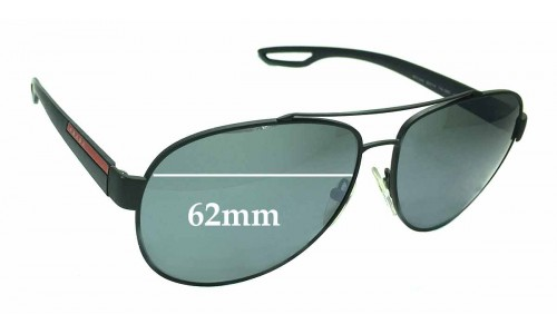 Sunglass Fix Replacement Lenses for Prada SPS55Q - 62mm wide