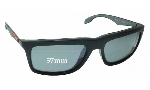 Prada SPS 02P Replacement Sunglass Lenses - 57mm wide