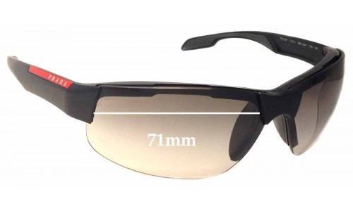 Prada SPS03P Replacement Sunglass Lenses - 71mm wide