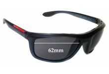 Prada SPS04P Replacement Sunglass Lenses 62mm wide