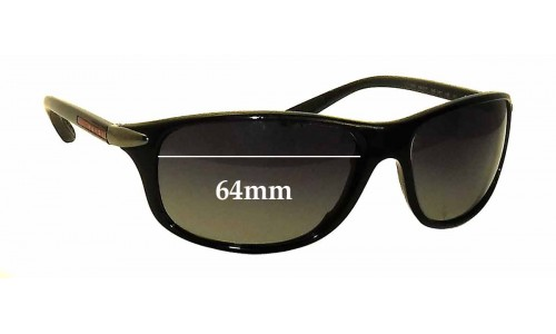 Prada SPS05M Replacement Sunglass Lenses - 64mm wide