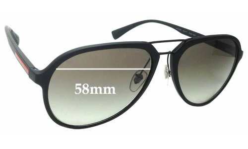 Sunglass Fix Replacement Lenses for Prada SPS05R - 58mm Wide