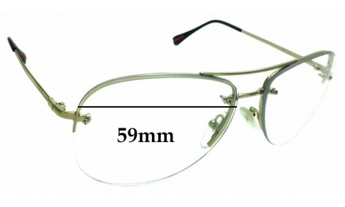 Sunglass Fix Replacement Lenses for Prada SPS50R - 59mm wide
