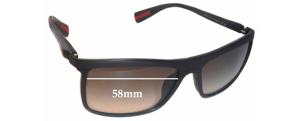 Prada SPS51P Replacement Sunglass Lenses - 58mm wide