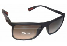 Prada SPS51P Replacement Sunglass Lenses - 58mm wide