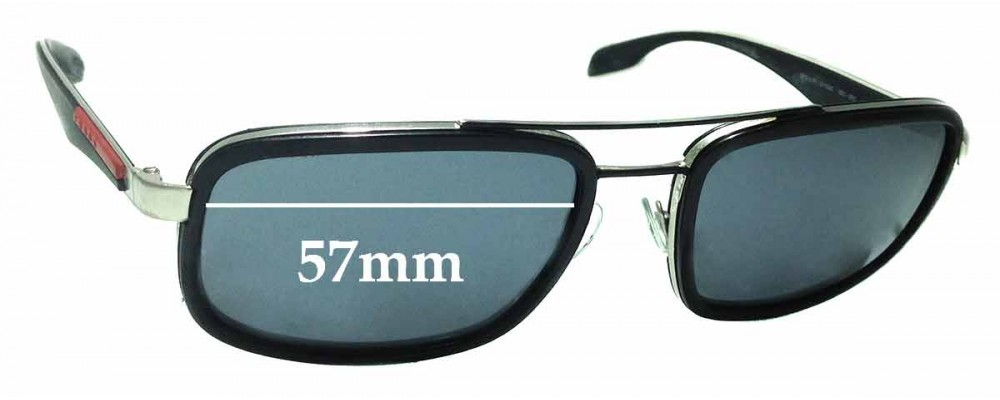 Prada SPS52P Replacement Sunglass Lenses - 57mm Wide