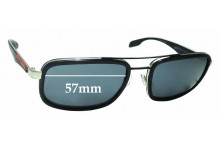 Prada SPS52P Replacement Sunglass Lenses - 57mm Wide
