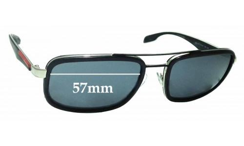 Sunglass Fix Replacement Lenses for Prada SPS52P - 57mm Wide