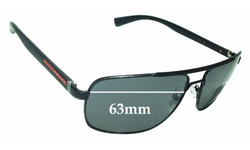 Sunglass Fix Replacement Lenses for Prada SPS55N - 63mm wide