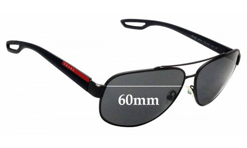 Sunglass Fix Replacement Lenses for Prada SPS58Q - 60mm wide
