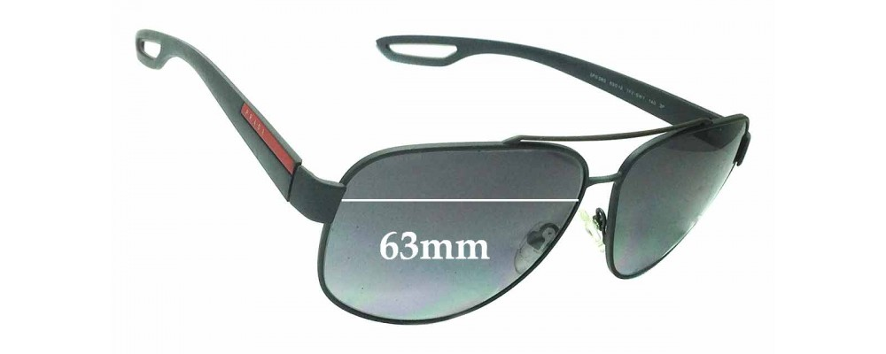 Sunglass Fix Replacement Lenses for Prada SPS58Q - 63mm wide