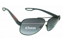 Sunglass Fix Replacement Lenses for Prada SPS58Q - 63mm wide