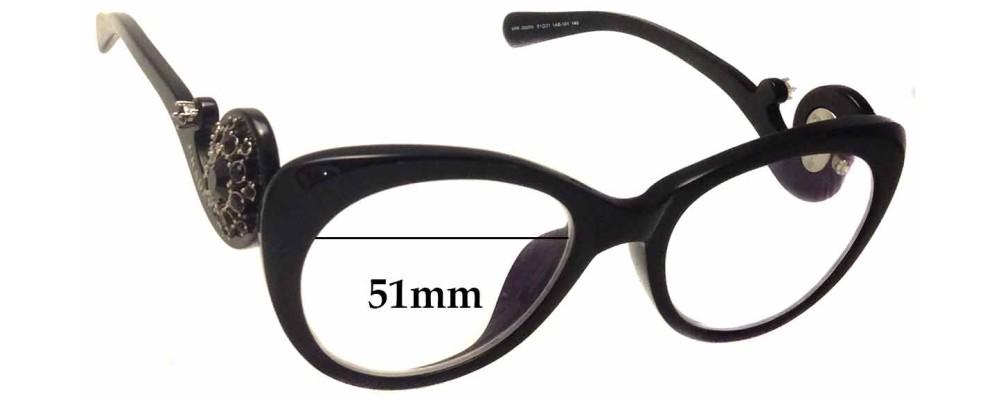 Prada VPR 060 Replacement Sunglass Lenses - 51mm wide