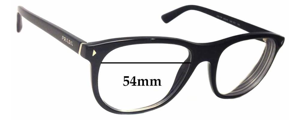 Prada VPR 17R Replacement Sunglass Lenses - 54mm wide