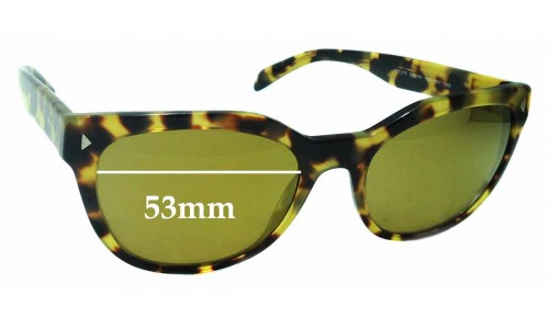 Sunglass Fix Replacement Lenses for Prada VPR21S -53mm wide