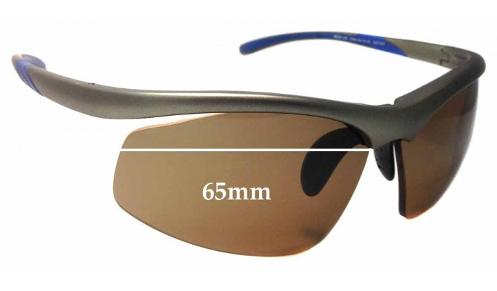 Sunglass Fix Replacement Lenses for Puma Sun Rx 05 25672329 - 65mm Wide