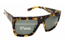 Quiksilver Jail Tattoo Replacement Sunglass Lenses - 57mm Wide