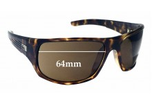 Sunglass Fix Replacement Lenses for Quiksilver The Crush 64mm Wide