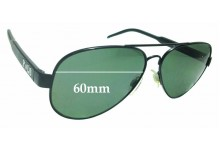 Sunglass Fix Replacement Lenses for Ralph Lauren POLO 3056 - 60mm wide