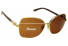 Ralph Lauren RL 7028 Replacement Sunglass Lenses - 58mm wide