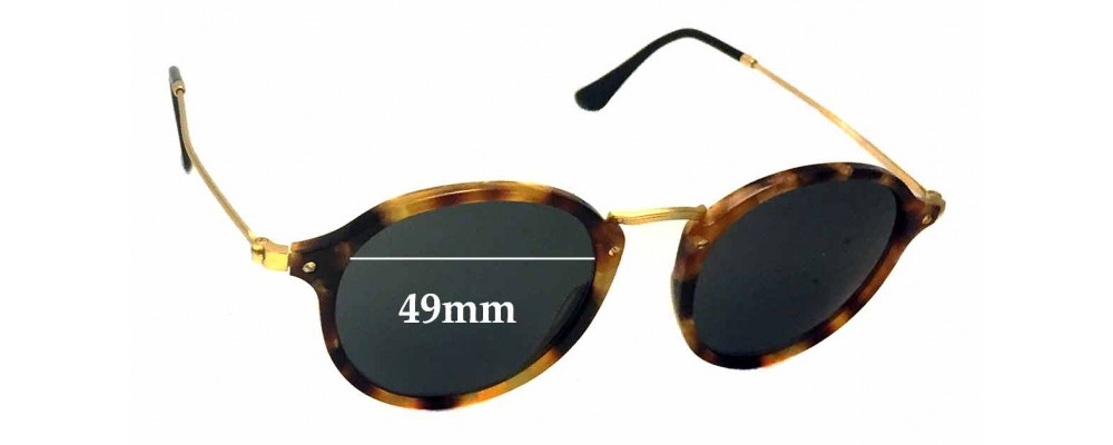 Ray Ban RB2447-V Replacement Sunglass Lenses - 49mm wide