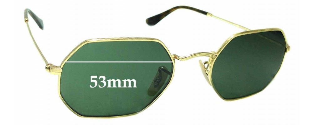 Sunglass Fix Replacement Lenses for Ray Ban RB3556-N - 53mm wide