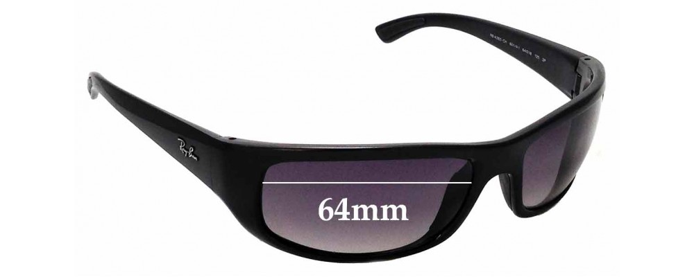 15b237bee89 Sunglass Fix Replacement Lenses for Ray Ban RB4283-CH - 64mm wide ...