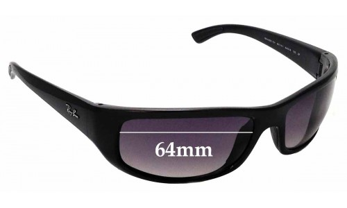 Sunglass Fix Replacement Lenses for Ray Ban RB4283-CH - 64mm wide