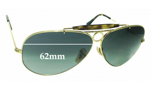 Sunglass Fix Replacement Lenses for Ray Ban Aviator RB3138 Shooter - 62mm wide