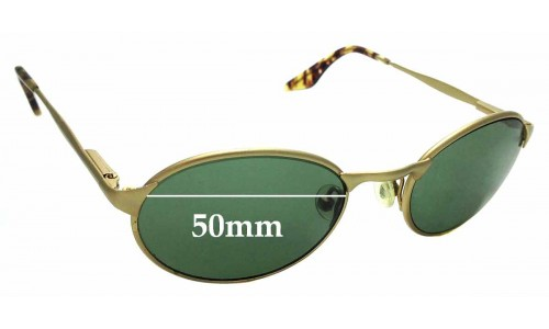Sunglass Fix Replacement Lenses for Ray Ban B&L W2840 - 50mm wide