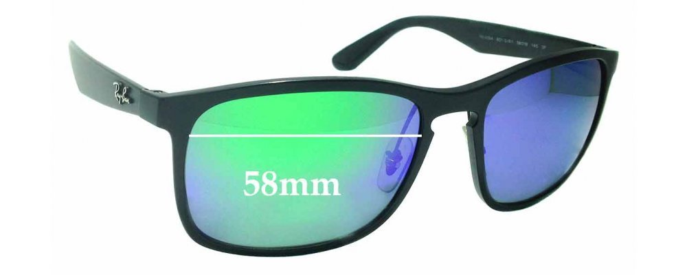 e137d221e075c Sunglass Fix Replacement Lenses for Ray Ban RB4264 Chromance - 58mm wide    Sunglass Fix