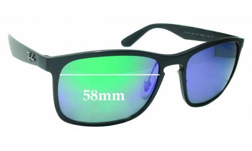 Sunglass Fix Replacement Lenses for Ray Ban RB4264 Chromance - 58mm wide