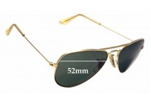9045411b110 Sunglass Fix Replacement Lenses for Ray Ban Aviators Bausch Lomb USA B L  W1878 - 52mm Wide .
