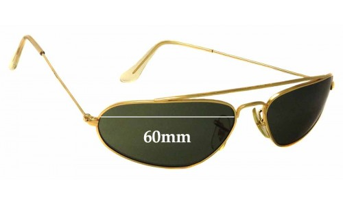 Sunglass Fix Replacement Lenses for Ray Ban B&L W1958 Fugitives - 60mm Wide