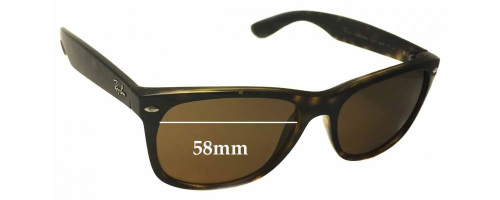 59730ba6a2 Ray Ban RB2132 New Wayfarer Replacement Sunglass Lenses 58mm wide x 43mm  high