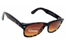 6a4136425ec Sunglass Fix Replacement Lenses for Ray Ban RB2132 New Wayfarer 52mm wide x  39mm high