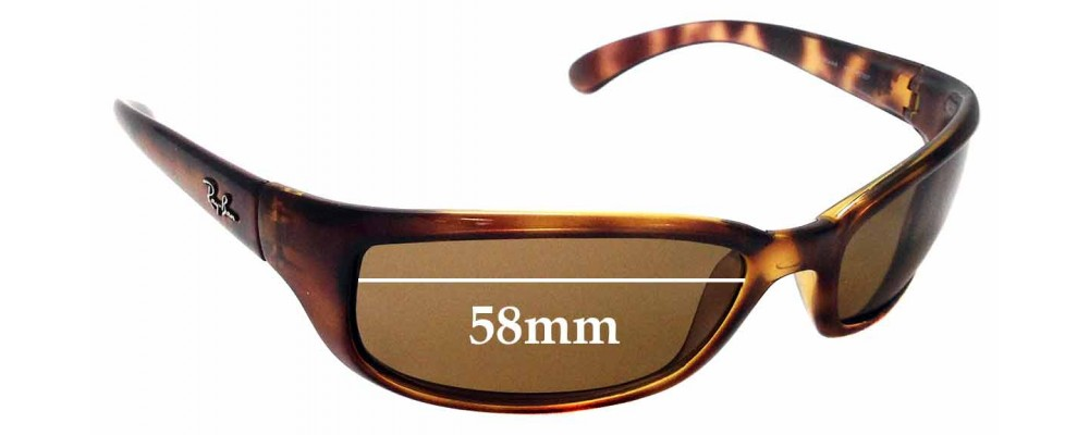 Sunglass Fix Replacement Lenses for Ray Ban RAJ1554AA RC007 - 58mm wide *Please measure your lens as size is not indicated on frames*