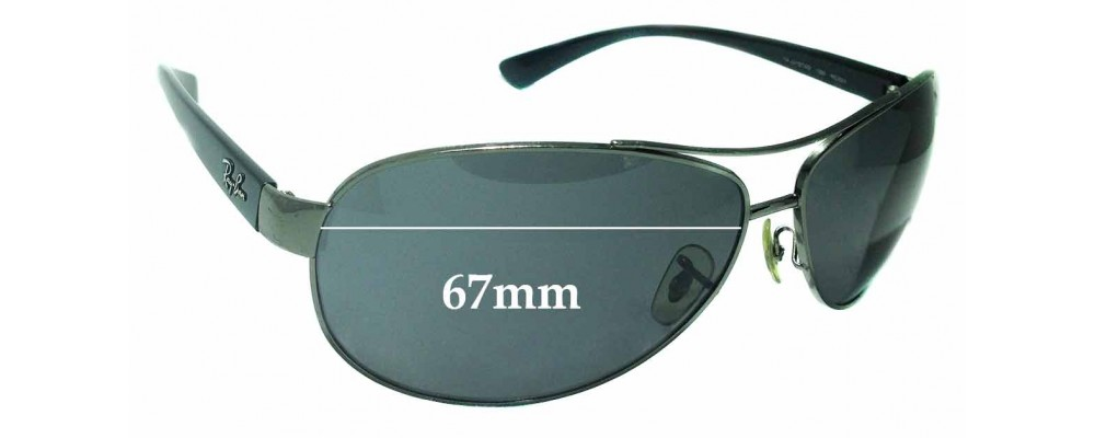 Sunglass Fix Replacement Lenses for Ray Ban RAJ2157AD RC001 - 67mm wide