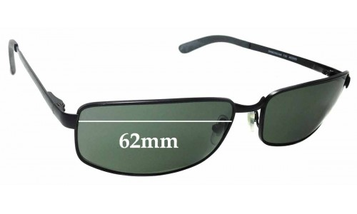 Sunglass Fix Replacement Lenses for Ray Ban RAM2062AA RC005 - 62mm Wide