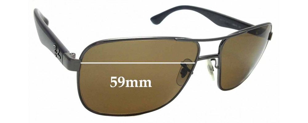 bfd25590d4e Sunglass Fix Replacement Lenses for Ray Ban RB3515 - 59mm Wide ...