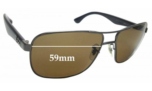 Sunglass Fix Replacement Lenses for Ray Ban RB3515 - 59mm Wide