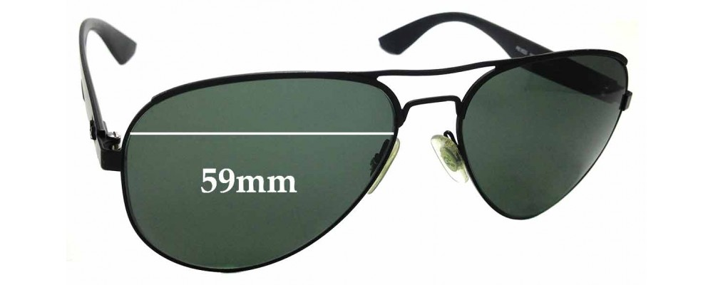 Sunglass Fix Replacement Lenses for Ray Ban RB3523 - 59mm wide