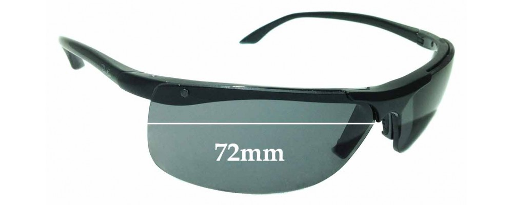Sunglass Fix Replacement Lenses for Ray Ban RB 4085 - 72mm Wide
