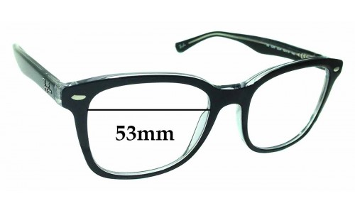 Sunglass Fix Replacement Lenses for Ray Ban RB5285 - 53mm wide