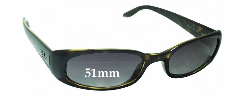 Sunglass Fix Replacement Lenses for Ray Ban - RB2129 - 51mm wide