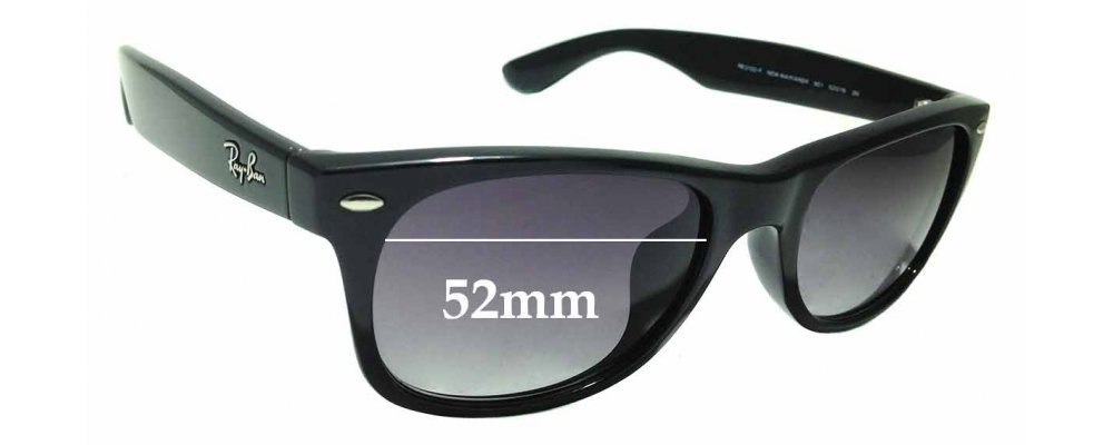 7e9e0a0da1 Sunglass Fix Replacement Lenses for Ray Ban RB2132-F New Wayfarer - 52mm  wide