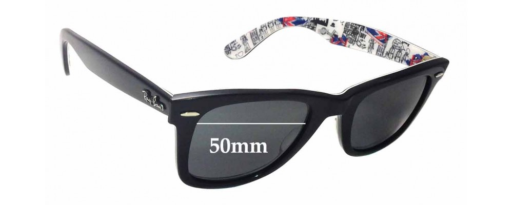 Ray Ban RB2140 Special Series 8 Wayfarer 1114 London Replacement Sunglass Lenses - 50mm wide