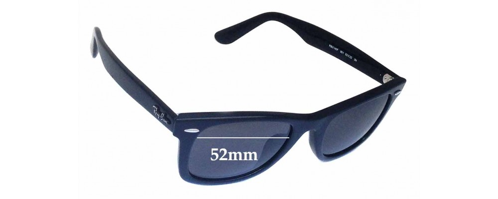 Ray Ban RB2140F Wayfarer Replacement Sunglass Lenses 52mm wide lenses
