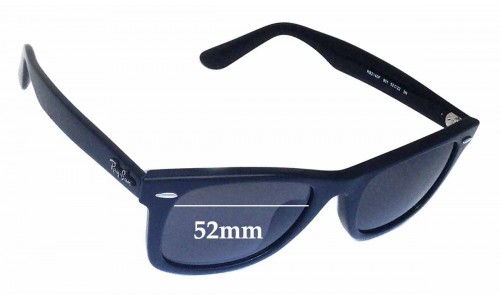 Sunglass Fix Replacement Lenses for Ray Ban RB2140F Wayfarer 52mm wide lenses