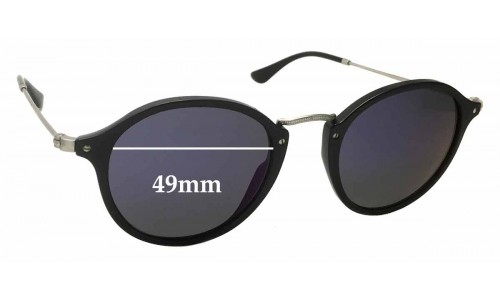 Sunglass Fix Replacement Lenses for Ray Ban RB2447 - 49mm wide